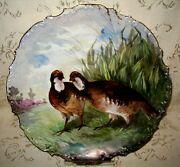 W. G. And Co French Limoge Artist Signed A. Canan Hand Painted Late 1800and039s Charger