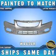 New Painted 636r Silver Front Bumper Cover For 2011-2014 Chevy Cruze Ls Lt Ltz
