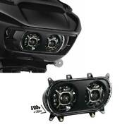 Led Dual Double Headlight Lamp Projector Fit For Harley Road Glide 2015-2020