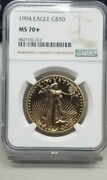 1994 50 Gold American Eagle Ngc Ms 70 Star