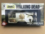 The Walking Dead Sheriff Rick Grimes Badge And Name Tag Prop Replica Rare Vhtf
