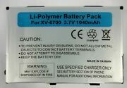 New Battery - Replaces Htc Touch Xv6900 / Btr6900