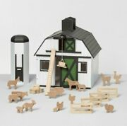 Hearth And Hand Magnolia Toy Wood Farm Set Barn Sold Out 24-piece Joanna Gaines