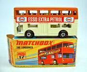 Matchbox Superfast No.17b The Londoner Cream And Brown Esso Labels Very Rare