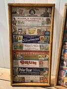 Antique Rustic Huge 24x48 T206 Tobacco Card Set Signs Old Judge Ty Cobb Wow