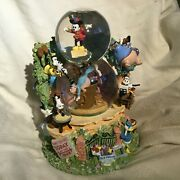 Disney Mickey Mouse Silly Symphonies Band Concert Musical Double Snowglobe-mib