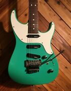 Vintage 1980and039s Charvel Spectrum Turquoise Electric Guitar With Soft Case