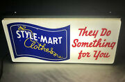 """Vintage Style-mart Clothes """"they Do Something For You"""" Advertising Lighted Sign"""