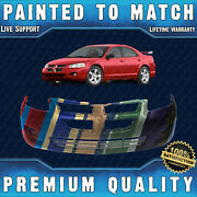 New Painted To Match Front Bumper Cover Fascia For 2004-2006 Dodge Stratus Sedan