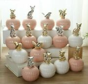 Ceramic Jewelry Gift Boxes Wedding Favors Crystal Spice Jar With Cover Animal