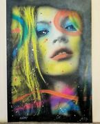 Noa - Kate Moss - Hand Painted Multiple - Signed And Numbered X/7 - Coa Pop Art