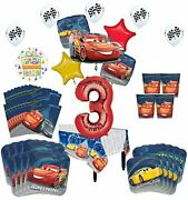 Disney Cars 3rd Birthday Party Supplies 8 Guest Kit And Balloon Bouquet Decor...