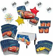 Disney Cars Birthday Party Supplies 8 Guest Kit And Balloon Bouquet Decoratio...