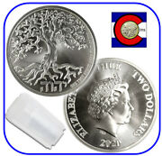 2020 Niue Tree Of Life 1 Oz Silver 2 Coin -- Roll/tube Of 20 Coins