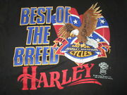 Vintage 1987 Harley Davidson Motor Cycles By Speed Limit 70 Xl T-shirt Best
