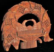 Antique Hand Carved Wood Americana Civil War Era Two Eagles Save The Union