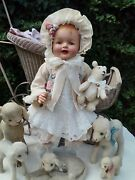 Big 26 Antique Vintage Composition And Cloth Baby Doll Htf