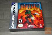 Doom Game Boy Advance, Gba 2001 Factory Sealed And Mint - Ultra Rare