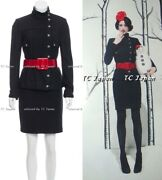 09pf 2009 5k Moscow Black Wool Jacket Skirt Suit Fr38 Fr40