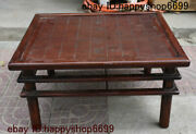 Old Chinese Hua Li Wood Carved Xiangqi Gobang The Game Of Go Checkerboard Statue