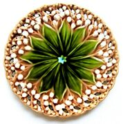 Majolica Plate With Openwork Edge Villeroy And Boch Schramberg Lily Of The Valley