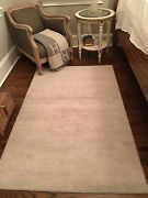 Abc Home And Rug Set Of 2 Light Gray And Cream Indian Wool Rugs 4x6