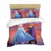 Frozen Princess And Warrior 3d Quilt Duvet Doona Cover Set Pillow Case Print