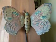 Antique Vintage Butterfly Push Pull Toy