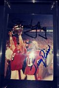 Steve Young And Jerry Rice Autograph Card Super Bowl Champions With Coa