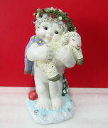 Dreamsicles Come Let Us Adore Him Cherub Angel With Lamb Figurine 6