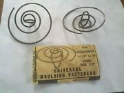 Universal Molding Fasteners Clips 1-1/8 To 3 Hole Size 1/2 Pkg Of 2 Vtg