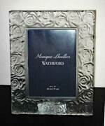 Monique Lhuillier Waterford And039sunday Roseand039 Crystal 5 X 7 Frame - New / Box