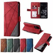 10pcs/lot Skin Stitching Credit Card Wallet Pu Leather Case For Iphone Samsung