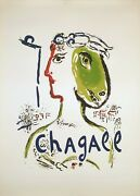 Land039artiste Phandeacutenix By Marc Chagall - Rare Large Original Poster On Arches Paper