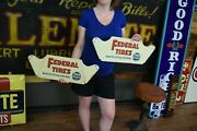 Vintage Federal Sign New Gas Station Gas Pump Tire Display Stand Rare