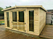 Apex Summer House Garden Office Tandg Heavy Duty Shed Tanalised Man Cave Bar