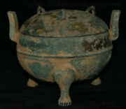 9.6 Chinese Xi Zhou Dynasty Bronzeware Incense Burner Censer Incensory Thurible