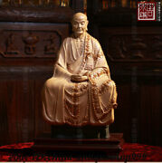 Chinese Buddhism Temple Porcelain Ancient Buddha Eminent Monk People God Statue