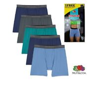 Fruit Of The Loom Menand039s Breathable Cooling Micro-mesh Boxer Brief5 Pack 3 12