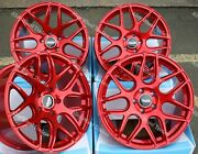 Alloy Wheels 18 Cr1 For Bmw 1 Series E81 E82 E87 E88 F20 F21 F40 Wr Red + Tyres