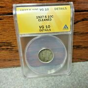 1927-s Winged Liberty Or Mercury Dime Anacs Vg 10 Details Buy-it-now