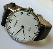 Vintage Gigandet Incabloc 17j All Steel Ut6565 Swiss Made Wristwatch From 70's