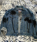 On A Wing And A Prayer Vintage Embroidered Levi Denim Jacket