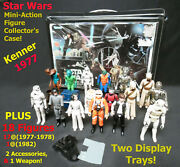 Star Wars Mini-action Figure Collector's Case Kenner-1977 And 18 Figures Sale