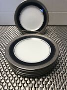 Six 6new Noritake Crestwood Cobalt Platinum Bread And Butter Plates 6 1/4andrdquo.