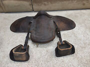 Rare Civil War Leather Saddle And Stirrups Whit Whitely Lynn Soldier