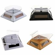 Solar Powered 360 Turntable Rotating Jewellery Ring Watch Display Stand Store