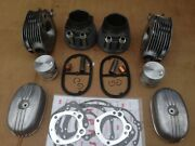 Ural 650 Engine Big Set Cylinders Heads Pistons Rings Cover Gaskets New