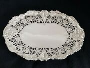 Antique Sterling Silver Pierced Fruit Bowl. Sheffield 1940 . By Walker And Hall