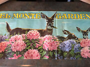 Original Vintage 1960s 1970's Del Monte Double-sided Garden Show Poster Cool